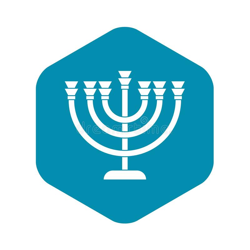Menorah icon in simple style vector illustration