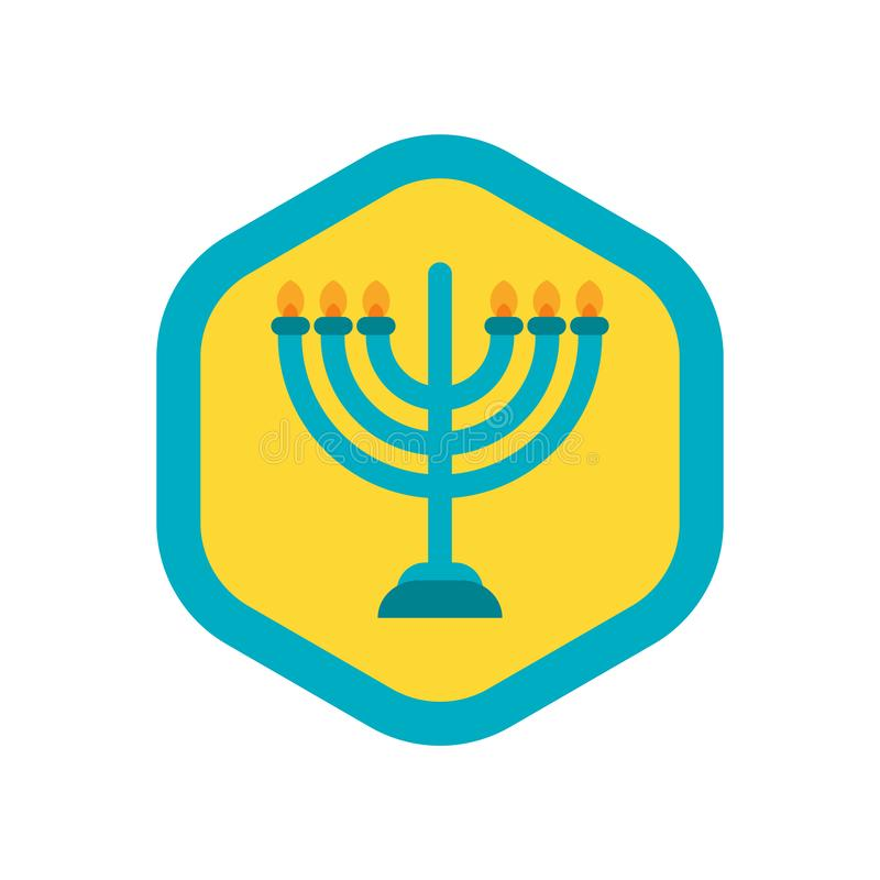 Menorah icon vector isolated on white background, Menorah sign vector illustration