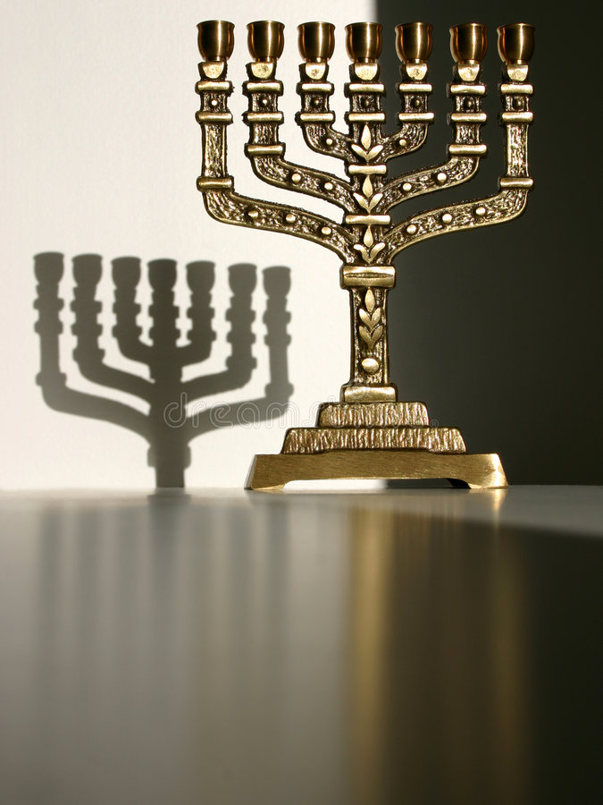 Menorah III stock image