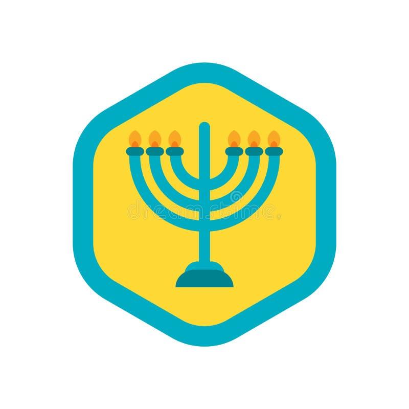 Menorah ikony wektor odizolowywający na białym tle, Menorah znak ilustracja wektor