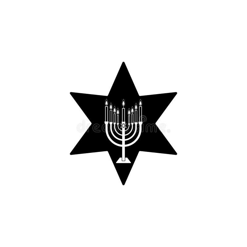 menorah kaarsenpictogram Element van hanukkahpictogram voor mobiele concept en webtoepassingen Het gedetailleerde menorah kaarsen royalty-vrije illustratie