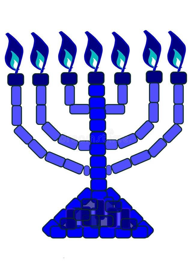 menorah lampstand 7 син бесплатная иллюстрация