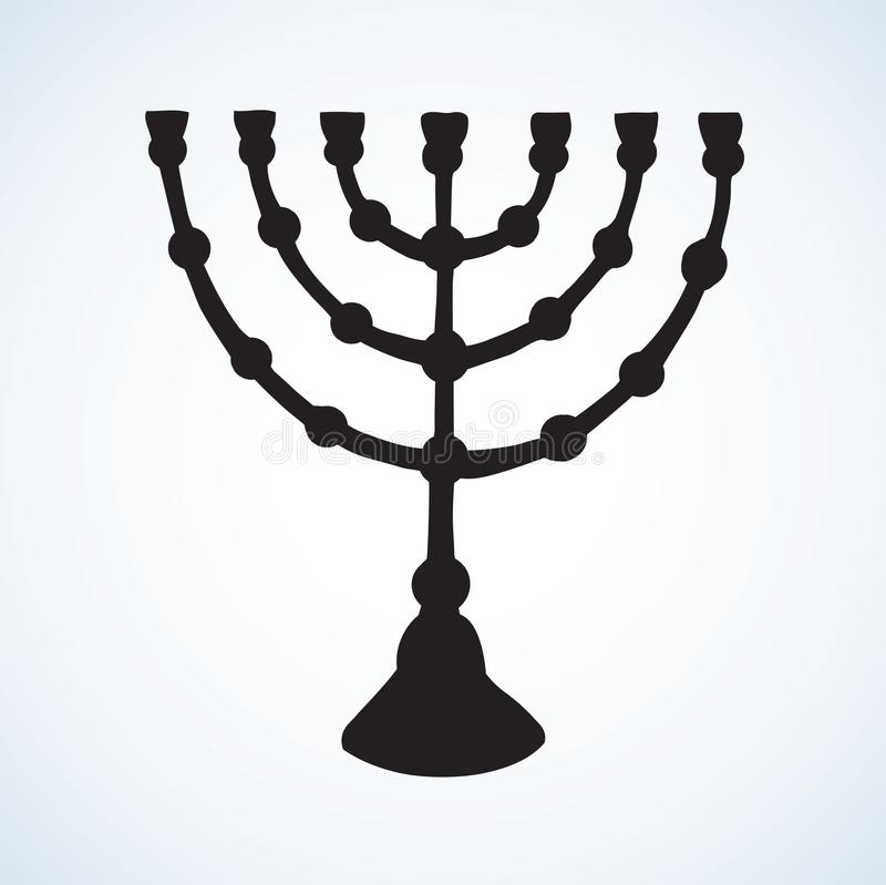 menorah Retrait de vecteur illustration de vecteur