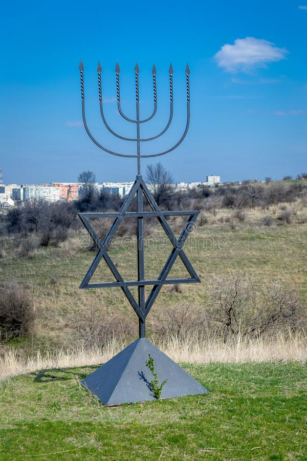 The Menorah Is A Symbol Of Judaism Monument To The Victims Of The