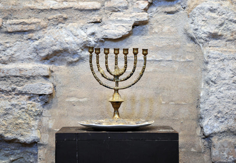 Menorah in the Synagogue of Cordoba, Spain royalty free stock photos