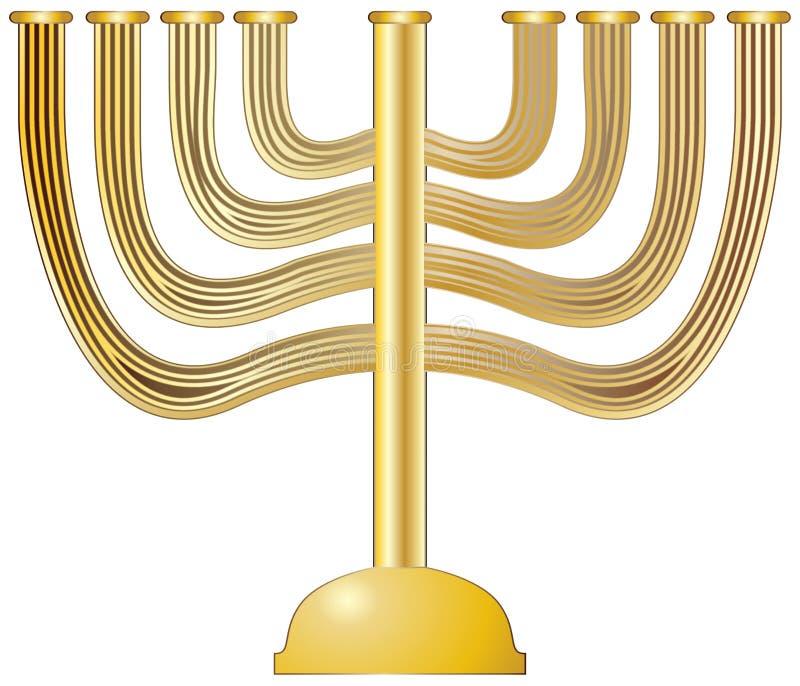 Menorah złoto ilustracja wektor