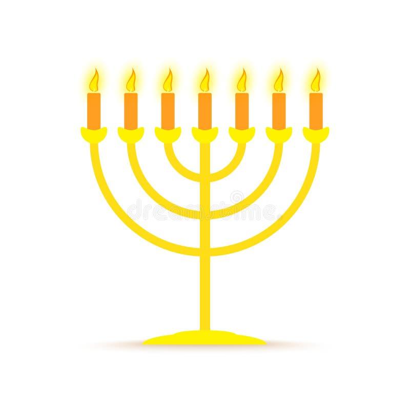 Menorahanukkah symbol också vektor för coreldrawillustration royaltyfri illustrationer