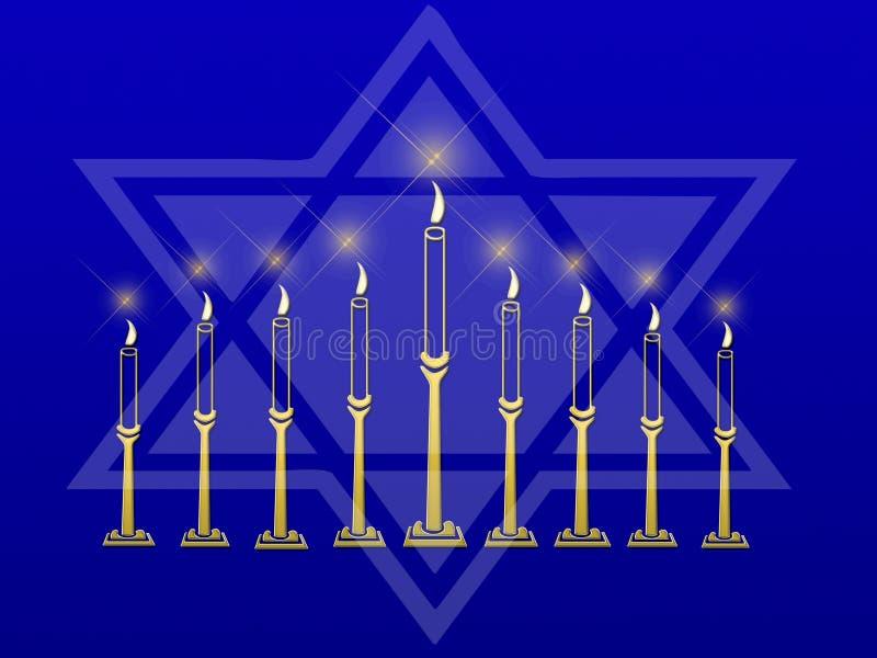 Download Menorastjärna stock illustrationer. Illustration av symboliskt - 3525521