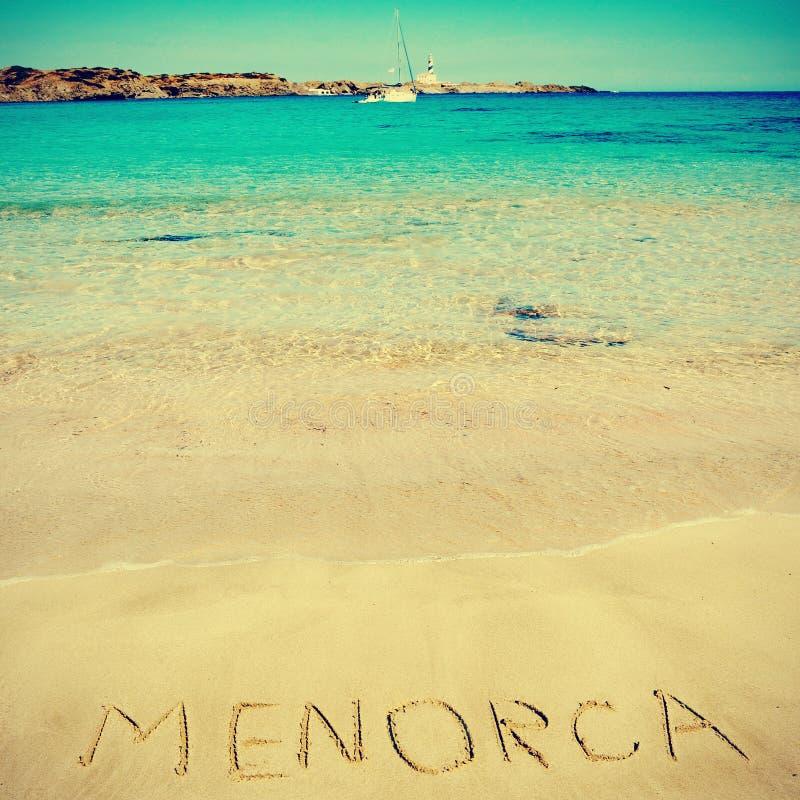 Menorca,巴利阿里群岛,西班牙 库存照片