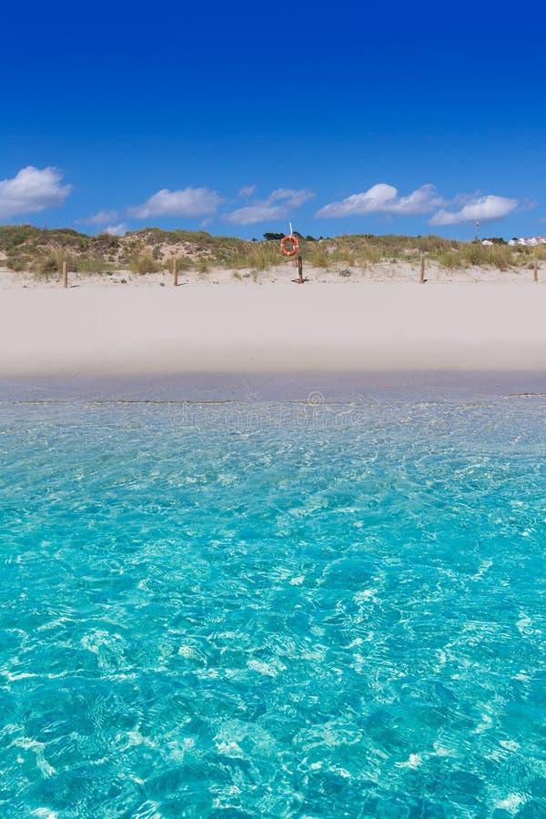 Menorca绿松石海滩的Alaior Cala儿子Bou在拜雷阿尔斯 库存图片