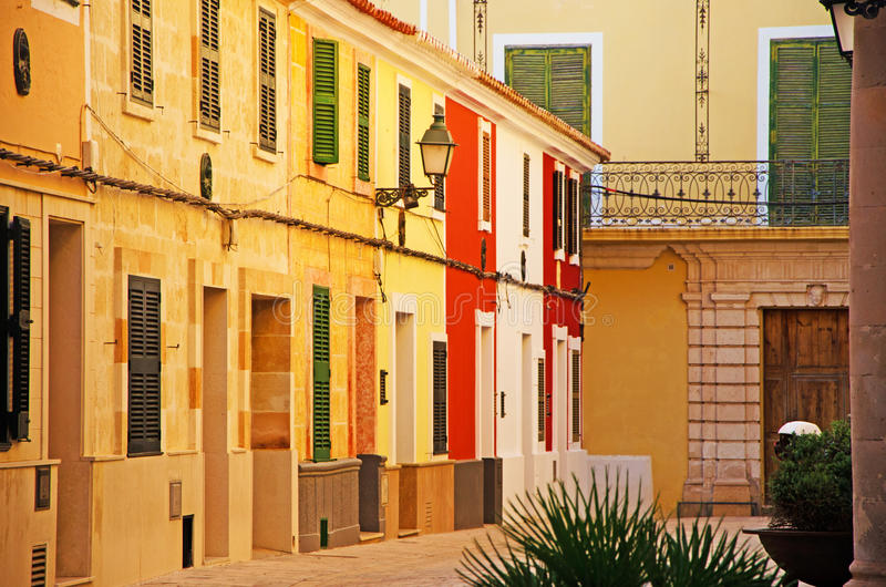 Menorca, Balearic Islands, Spain, Ciutadella, skyline, palace, building, architecture, alley royalty free stock images