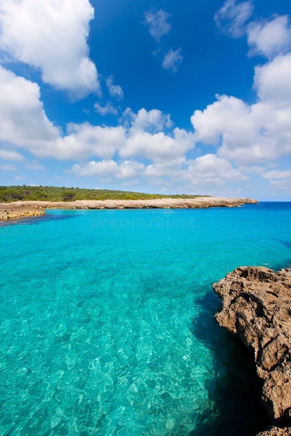 Menorca Cala des Talaier海滩在拜雷阿尔斯的Ciutadella 免版税库存图片