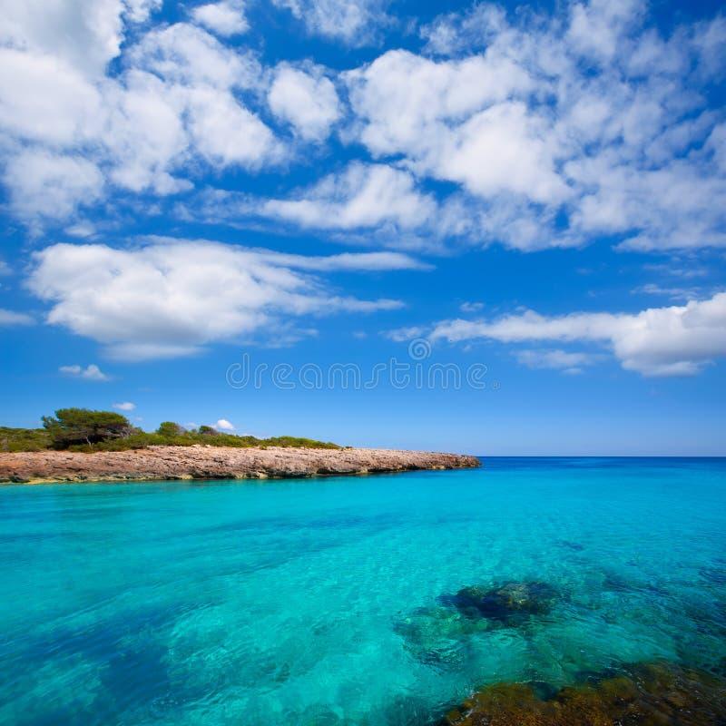 Menorca Cala des Talaier海滩在拜雷阿尔斯的Ciutadella 免版税图库摄影