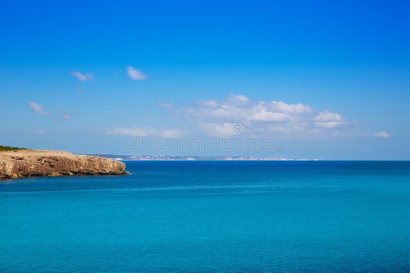 Menorca Cala des Talaier海滩在拜雷阿尔斯的Ciutadella 图库摄影