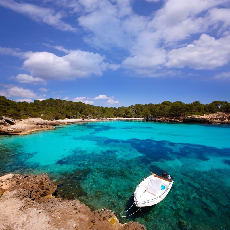 Menorca Cala en Turqueta Ciutadella拜雷阿尔斯地中海 图库摄影
