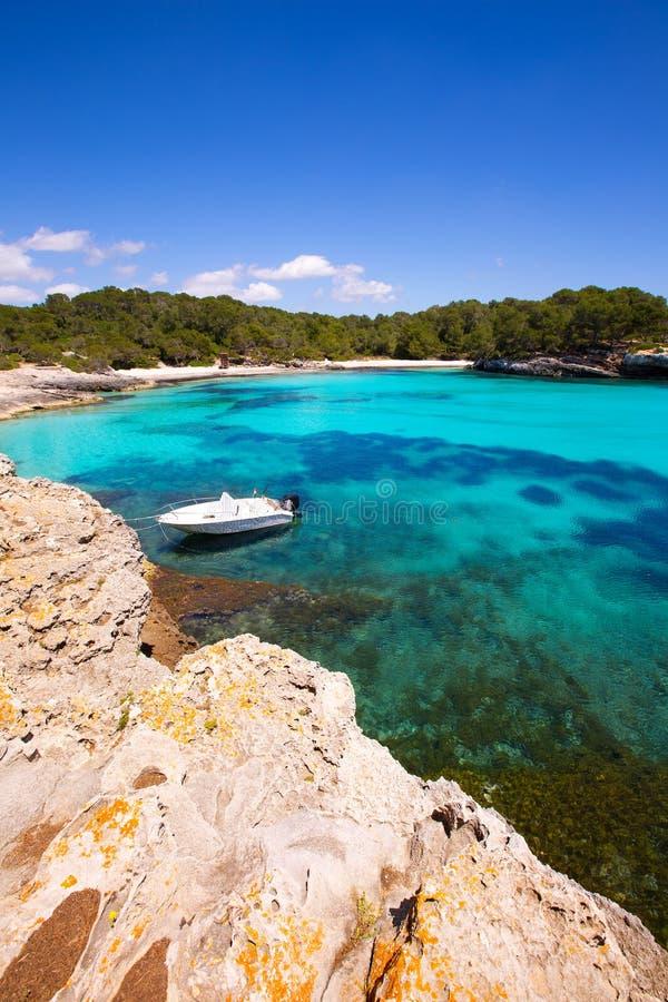 Menorca Cala en Turqueta Ciutadella拜雷阿尔斯地中海 库存照片