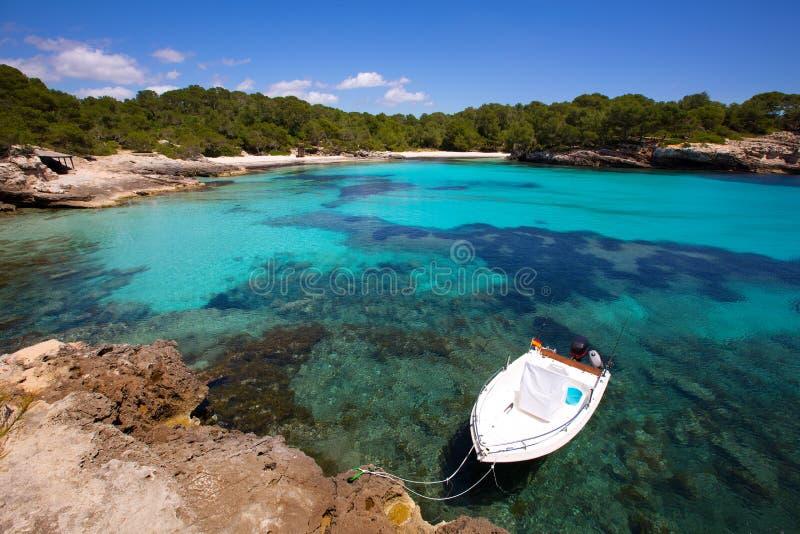 Menorca Cala en Turqueta Ciutadella拜雷阿尔斯地中海 免版税库存图片