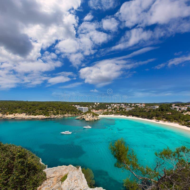 Menorca Cala Galdana海滩在拜雷阿尔斯的Ciutadella 免版税库存图片