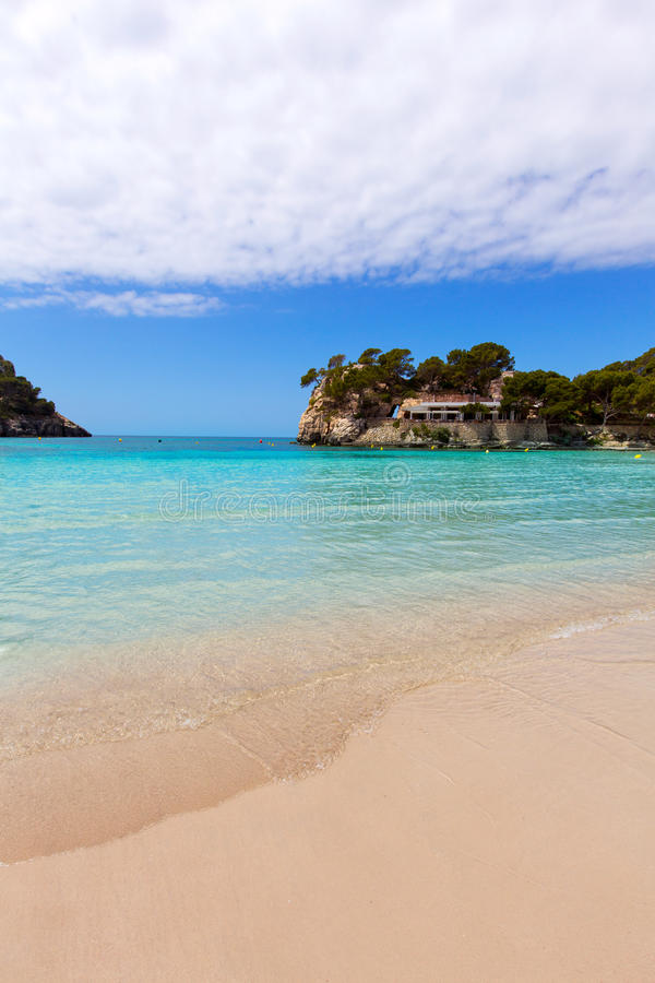 Menorca Cala Galdana海滩在拜雷阿尔斯的Ciutadella 图库摄影