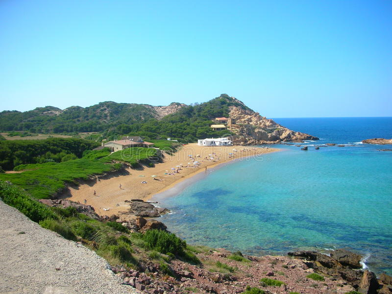 Menorca - Cala Pregonda stock photo