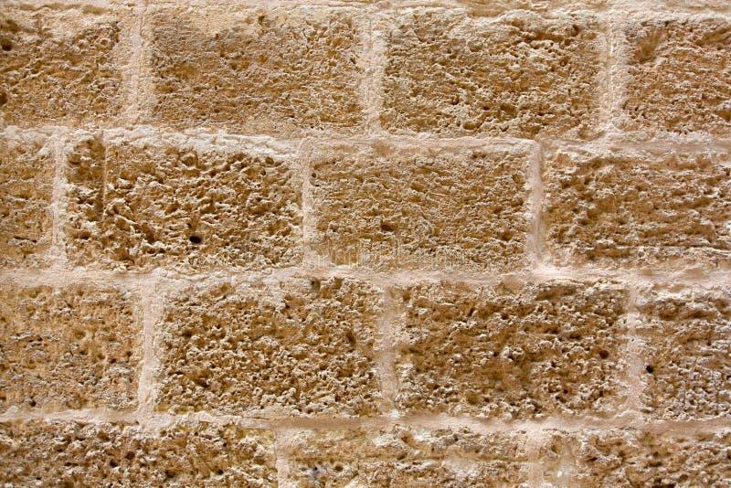 Menorca kasztel stonewall ashlar kamieniarstwa ściany teksturę obraz stock