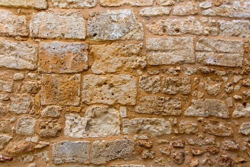 Menorca kasztel stonewall ashlar kamieniarstwa ściany teksturę obrazy stock
