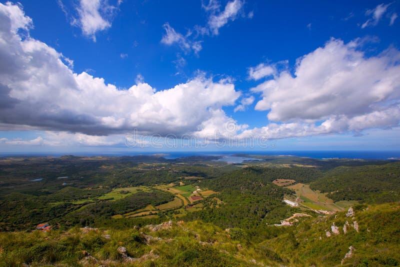 Menorca Północny widok z lotu ptaka od Pico del Toro zdjęcia royalty free