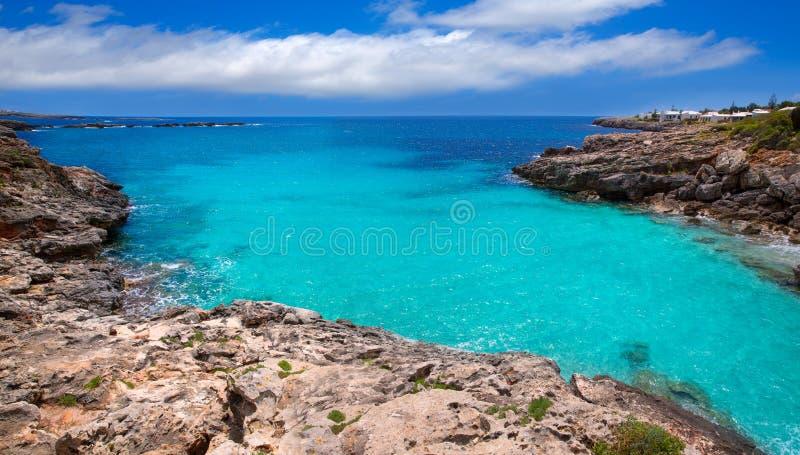 Menorca Platja es Calo Blanc en Sant Luis en Balearic Island imagen de archivo libre de regalías