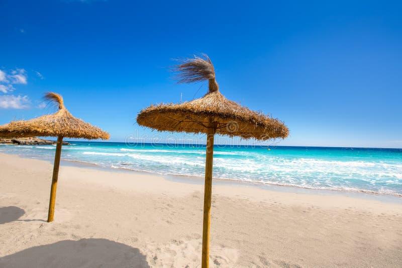 Menorca Platja Sant Tomas in Es Mitjorn Gran bei Balearics lizenzfreie stockbilder