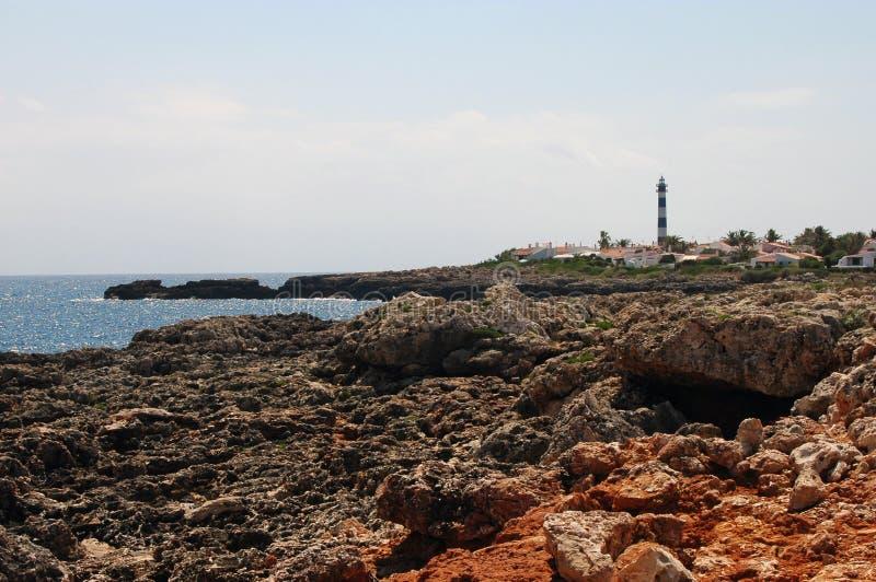 Menorca s'Algar Spanien stockbilder