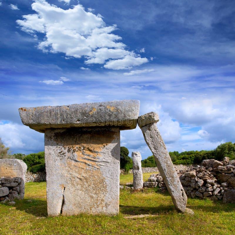 Menorca Taules des tables préhistoriques de Talati de Dalt photographie stock