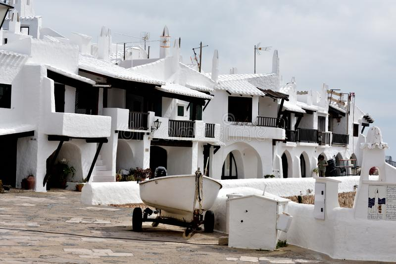 Menorca wioska rybacka obraz stock