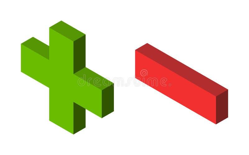 Menos más, rojo verde libre illustration
