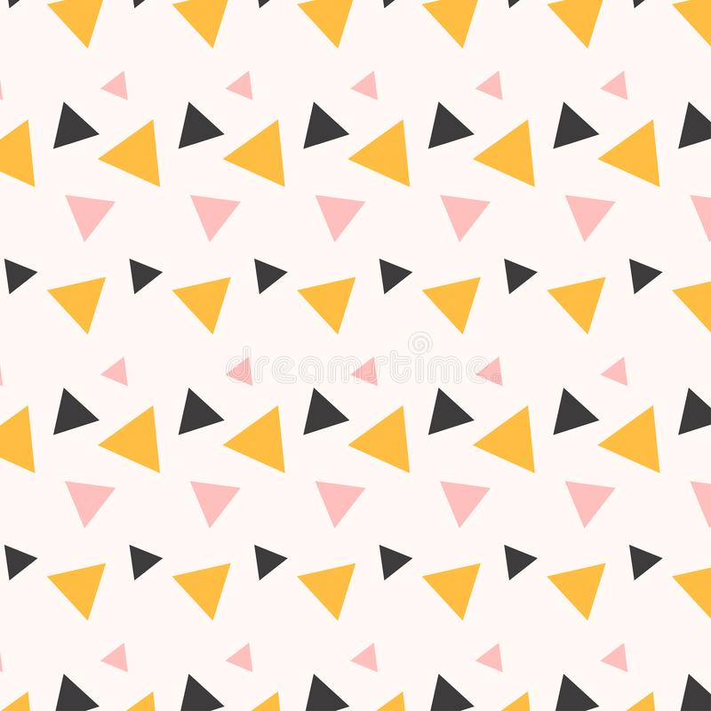 Menphis Triangle Solid Pattern Design stock illustration