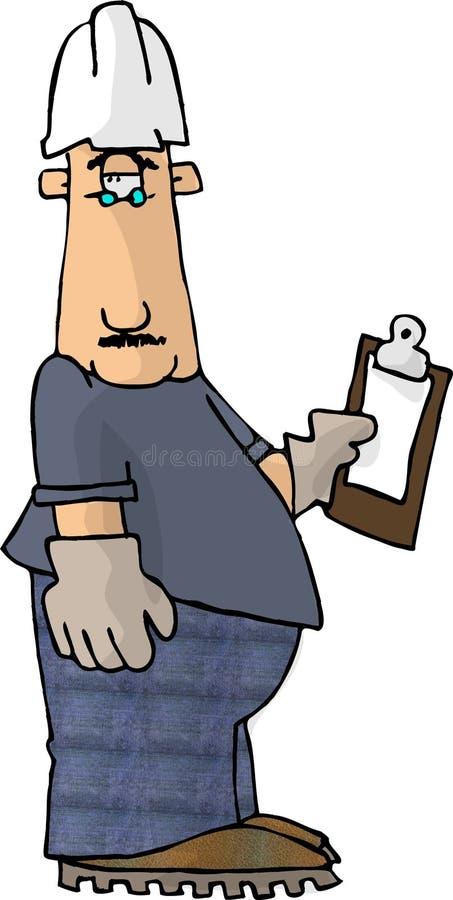 Mens 1 van het klembord stock illustratie