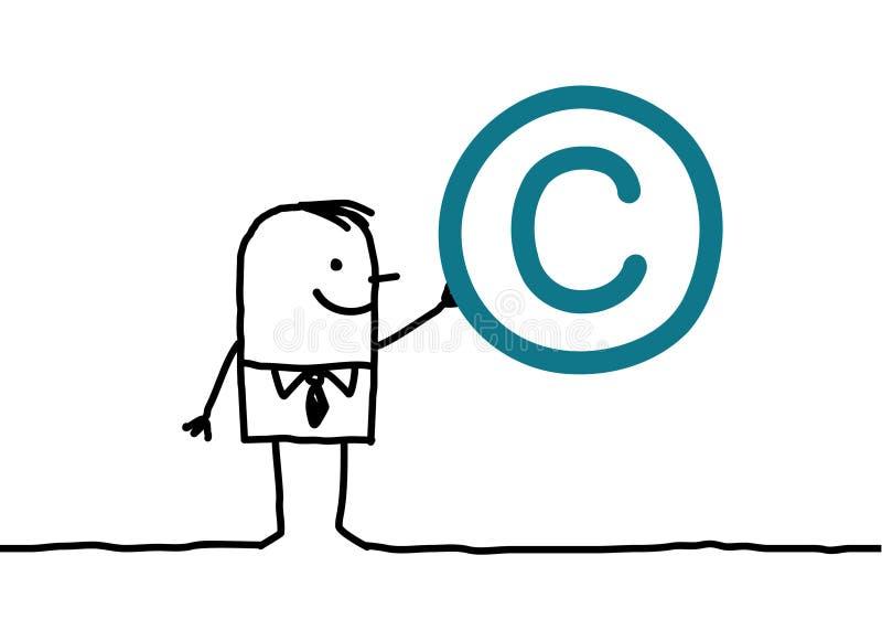 Mens & auteursrecht stock illustratie