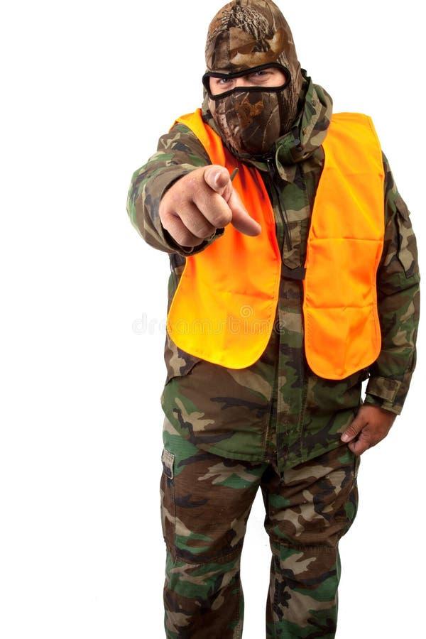Mens in camouflage royalty-vrije stock fotografie