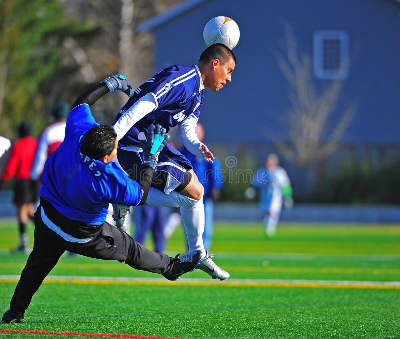Mens club Soccer goal royalty free stock photos
