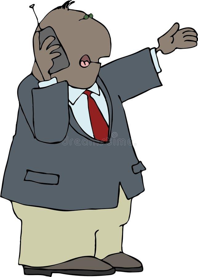 Mens die een cellphone gebruikt stock illustratie
