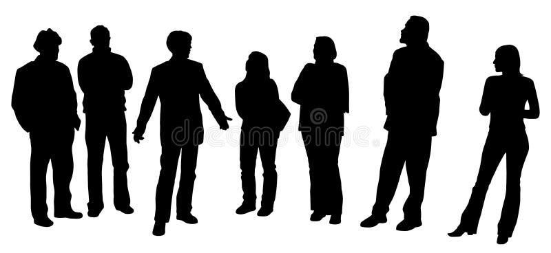 Mens die een presentatie geeft stock illustratie