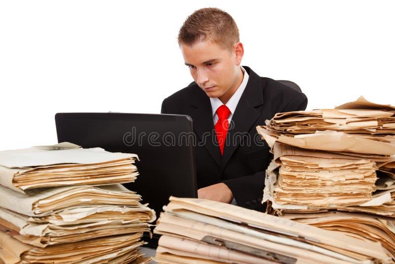 Mens die hard werkt royalty-vrije stock afbeelding