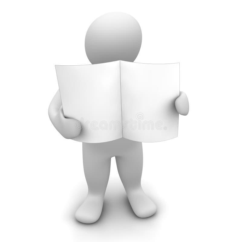 Mens die leeg document houdt royalty-vrije illustratie