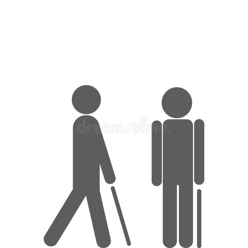 Mens die met riet lopen vector illustratie