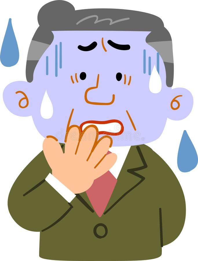 Mens die op middelbare leeftijd een bleek-kijkt kostuum _dragen Managers stock illustratie