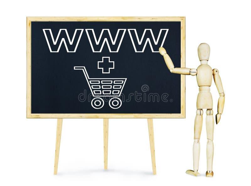 Mens die presentatie over Internet-handel doen stock foto