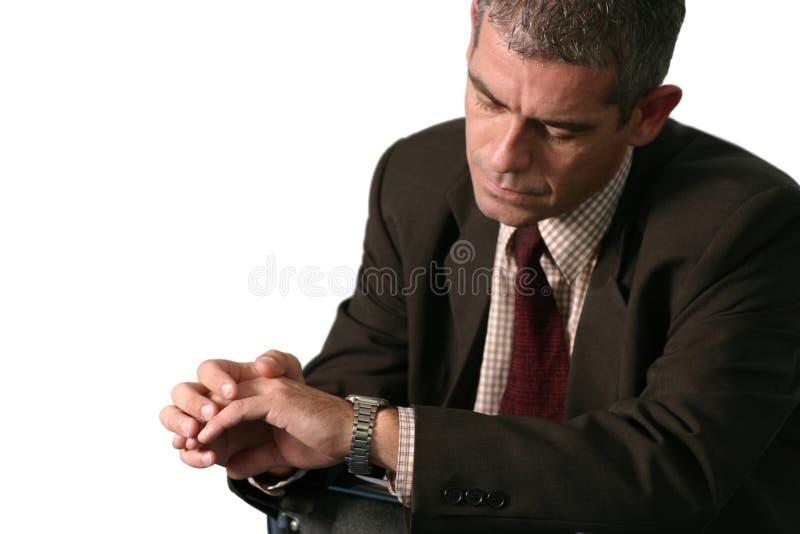Download Mens die Tijd controleert stock foto. Afbeelding bestaande uit pers - 34916