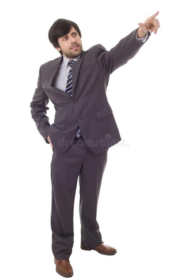 Mens die vinger richt stock foto