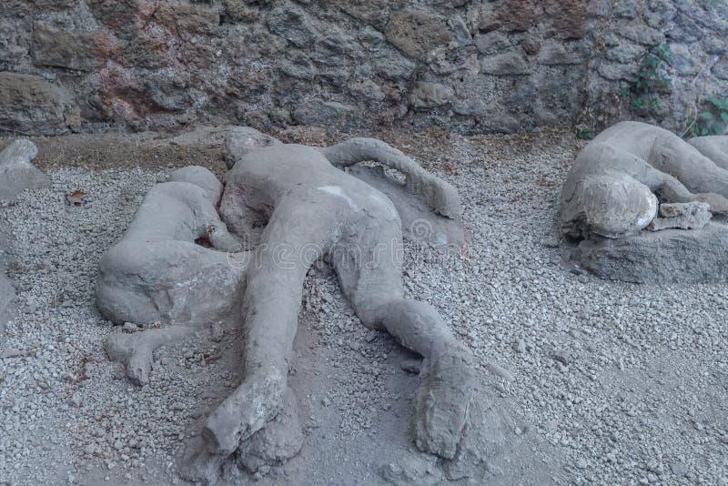 Mens dood in Pompei stock afbeelding