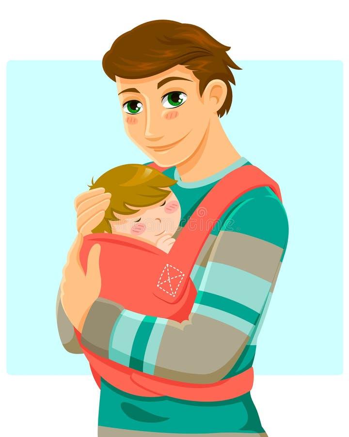 Mens en baby royalty-vrije illustratie