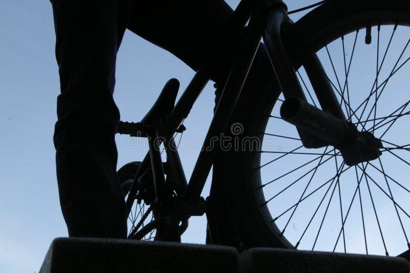 Mens en BMX royalty-vrije stock foto